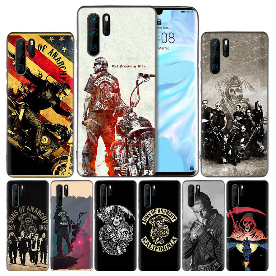 Sons of Anarchy Silicone Case Cover for Huawei Mate 20 10 P30 P20 P10 P9 Lite Pro P Smart Z Plus 2019 V20 Enjoy 9S 9E Nova 4e