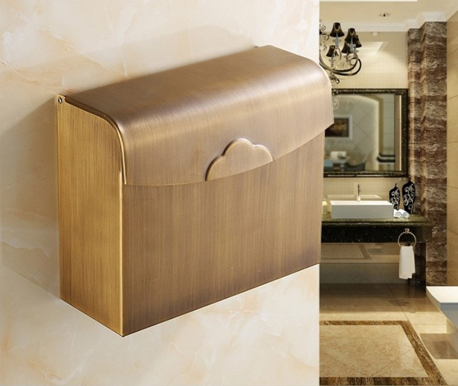2016 Antique Brass Finish Toilet Paper Holder Design/Bronze Paper Towel Holder/Roll Holder,Bathroom waterproof tissue box 731 copper open toilet paper tissue towel roll paper holder silver