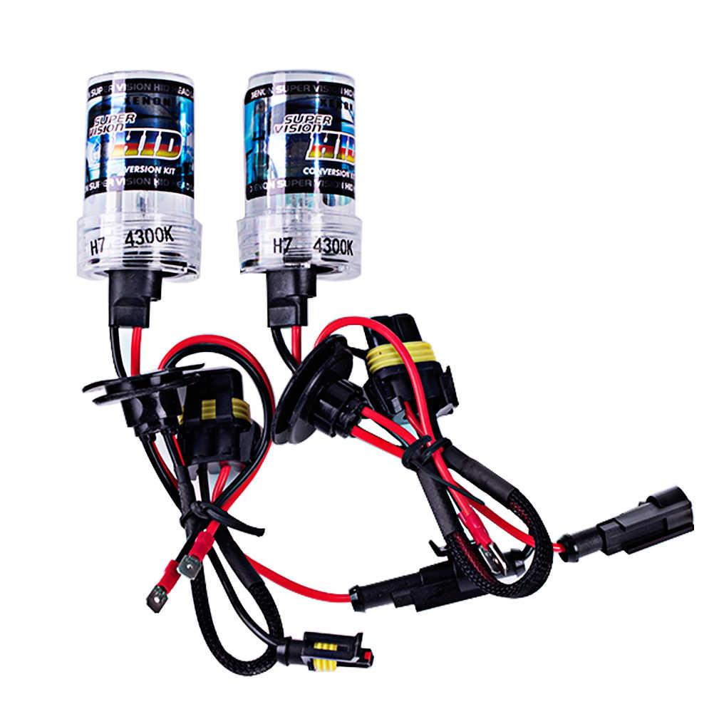 2 قطعة 12 فولت فقط hid bixenon عدة لمبة 35 واط 4300 كيلو 6000 كيلو H1/H7/9005 التصميم سيارة ضوء