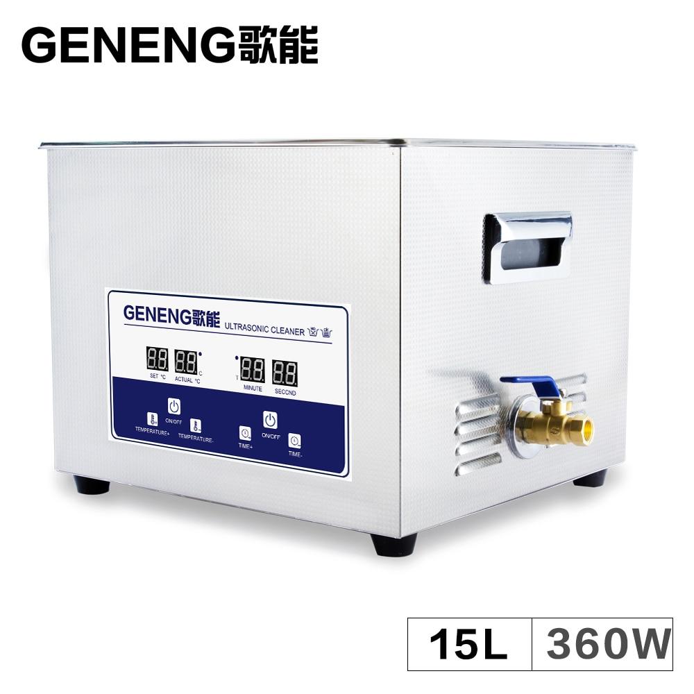 Digital Ultrasonic Cleaner Bath 15l Engine Oil Rust Parts Circuit 50w 110v Generator Board Glassware Electronic Heated Ultrasound Washing