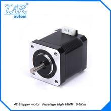 цена на 1pcs  Nema17 Stepper Motor 42 motor Nema 17 motor  48MM 1.96A (J-4218HB3401) motor for CNC XYZ