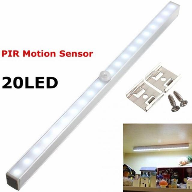 huishouden sensor verlichting draadloze pir bewegingssensor 20 led closet kabinet led nachtlampje wandlamp schansen veranda