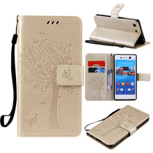 For coque Sony M5 case For Fundas Sony Xperia M5 E5653 / M5 Dual E5663 3D Pattern Wallet Magnet Flip Cover Leather Case stand(China)