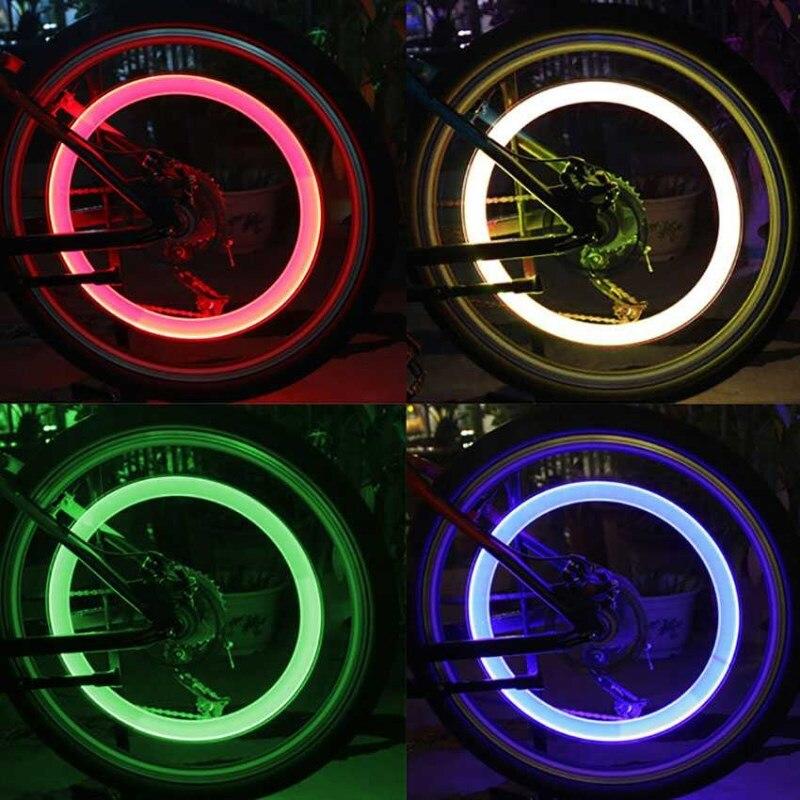 Luz LED ultrabrillante para bicicleta WasaFire 2 uds luces LED para bicicleta Válvula de neumático para bicicleta luz trasera bicicleta