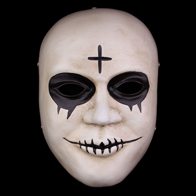 aliexpresscom buy movie the purge masks cross resin smile white mask adult face mascaras halloween carnival theme cosplay costume from reliable purge - Purge Anarchy Masks For Halloween