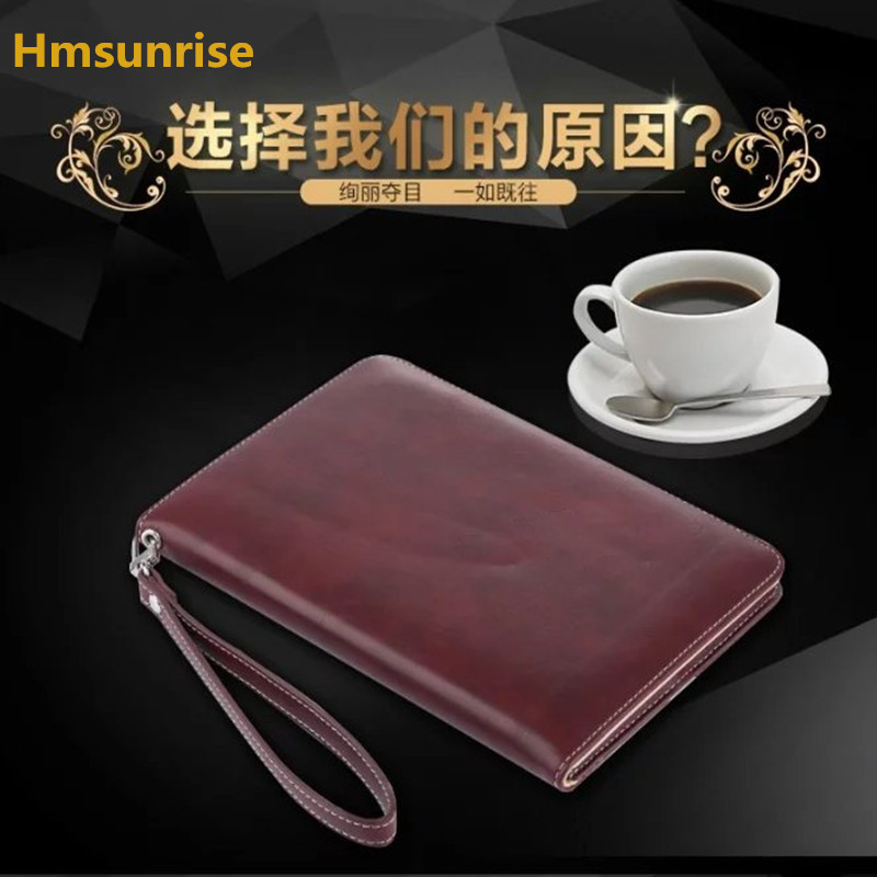 Hmsunrise For ipad pro 9.7 case Hand Strap Luxury Leather case for apple ipad Pro 9.7 inch Stand cover Auto Wake/Sleep