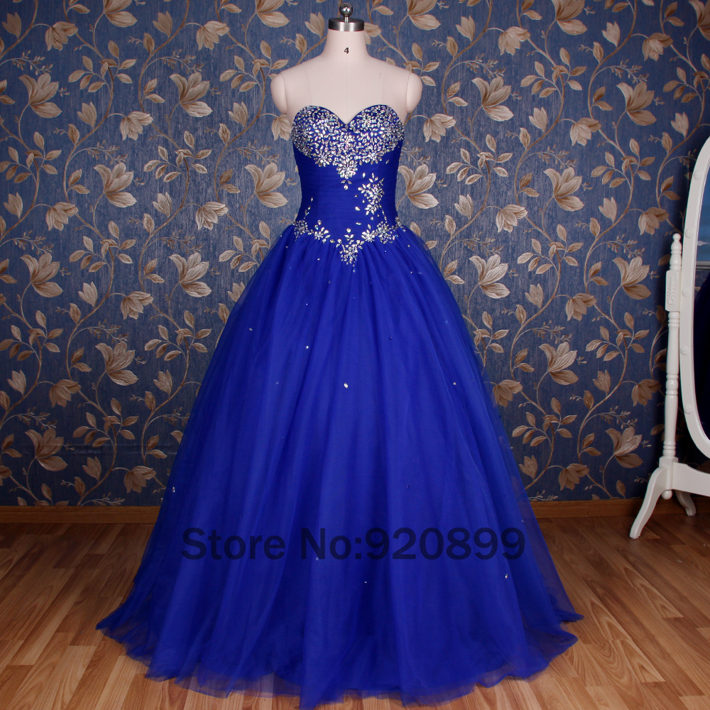 Real Photo Royal Blue Quinceanera Dresses New Design