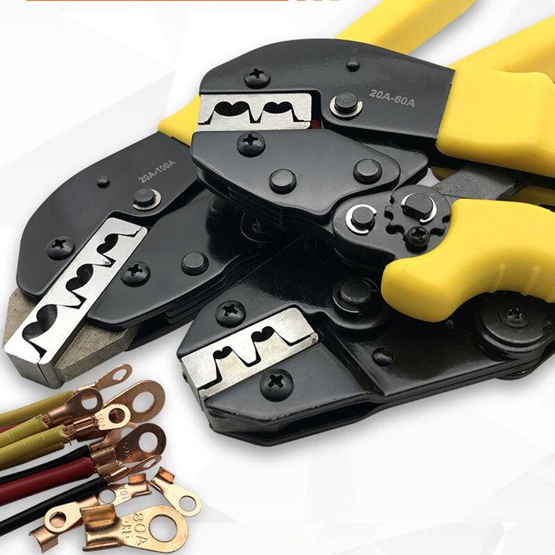 2.5-16MM2 Cuivre plug connecteur Tabs Bornes À Sertir Professionnel Outil de Sertissage pour Connecteur de cuivre