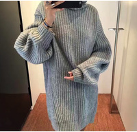 Brand Fashion Women S High End Luxury Temperament Wild High Collar Loose Knitted Wool Sweater