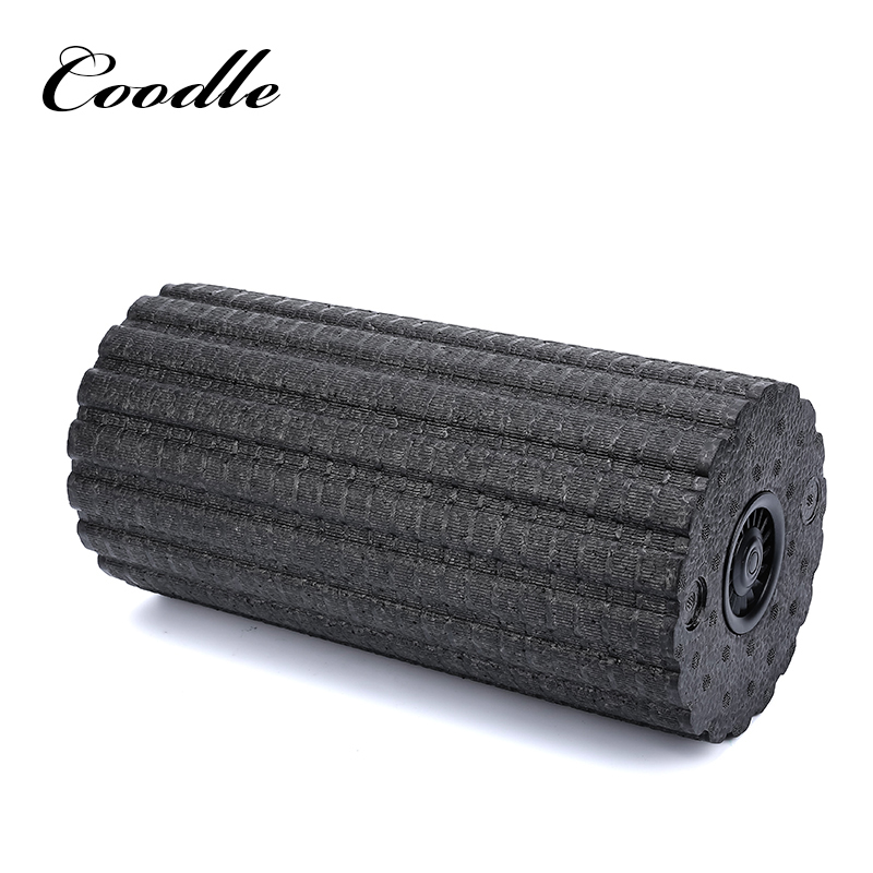 Hot sale fitness fashion grid yoga fitness use electic vibrating massage foam roller new yoga pilates exercise high density eva foam massage roller fitness home gym massage