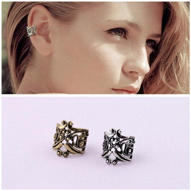 ER031  Retro fashion Hollow U-shaped ear bone folder without pierced ear clip earrings male Ms. lovers