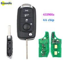 מתקפל flip מרחוק מפתח 4 כפתור 433MHz עם 4A שבב עבור פיאט Egea טיפו 500X עם נימול SIP22 להב