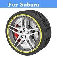 8 Meters Roll Car Styling Rim Wheel Hub Sticker Protector For Subaru Alcyone BRZ Dex Exiga