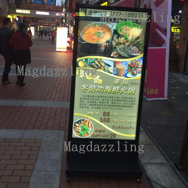 60x90cm restaurant outdoor stand double sided led display board 60x90cm restaurant outdoor stand double sided led display boardmobile led light boxbattery mozeypictures