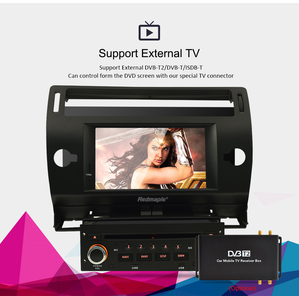 Android 9.0 Touch Screen Car GPS DVD Stereo For Citroen C4 C-Triomphe C-Quatre 2004-2009 Video Radio WIFI FM Multimedia Player