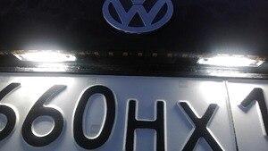 Image 5 - 2 sztuk Canbus bezawaryjna samochodowa LED numer oświetlenie tablicy rejestracyjnej dla Skoda Octavia 2 1Z 2008 ~ Roomster 5J 2006 2010
