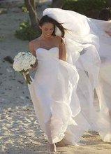 W-8 2013 Spring Sexy Sweetheart Chiffon Beach Wedding Dress