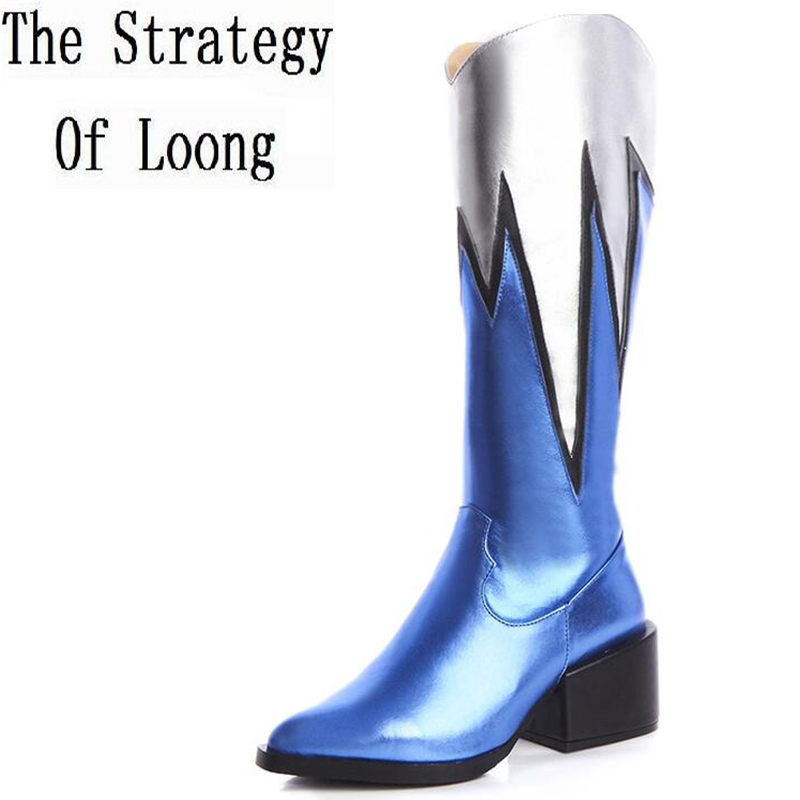 Women Full Grain Leather  High Heels Boots Short Plush Thick Warm Pointed Toe Half Boots 2016 Fashion Winter Lady Boots 6 women leather short plush thick warm snow knee high boots fashion high heels lady knight boots new arrival big size boots