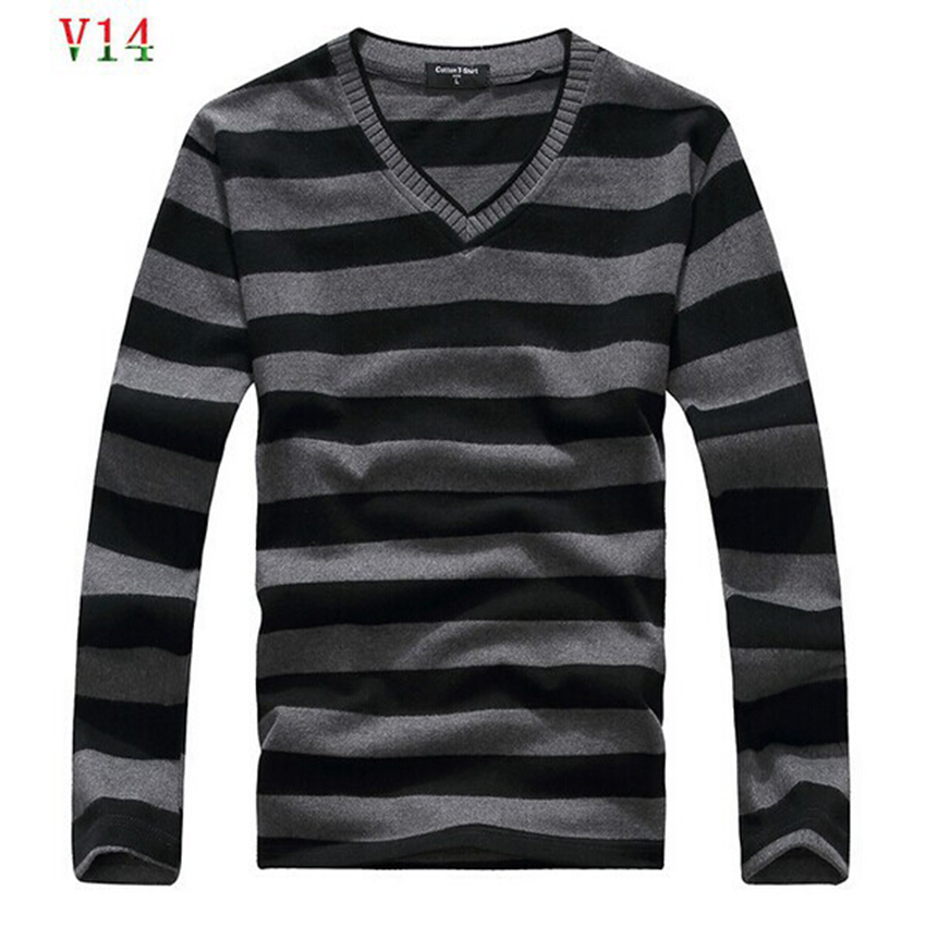 2017 man fake designer brand clothes mens jumper v neck male sweaters polo pullover L 4XL
