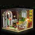Миниатюрный Кукольный Дом С Пылезащитный Чехол 3D Головоломки Diy Кукольный Домик Miniaturas Мебель Куклы Для Дома Подарки На День Рождения Творческие Игрушки