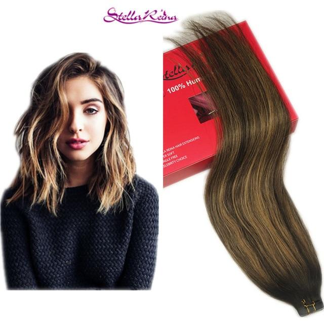 Stella Reina Brazilian Hair Ombre Balayage Hair Weave 3pcs Dark