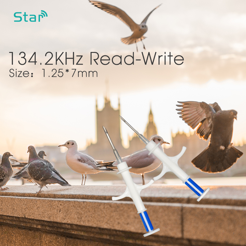 (20pc/lot) 1.25*7mm Microchips Implantable RFID Animal Syringe ISO Chip FDX-B Microchip Injector For Fish Dog Cat Identification