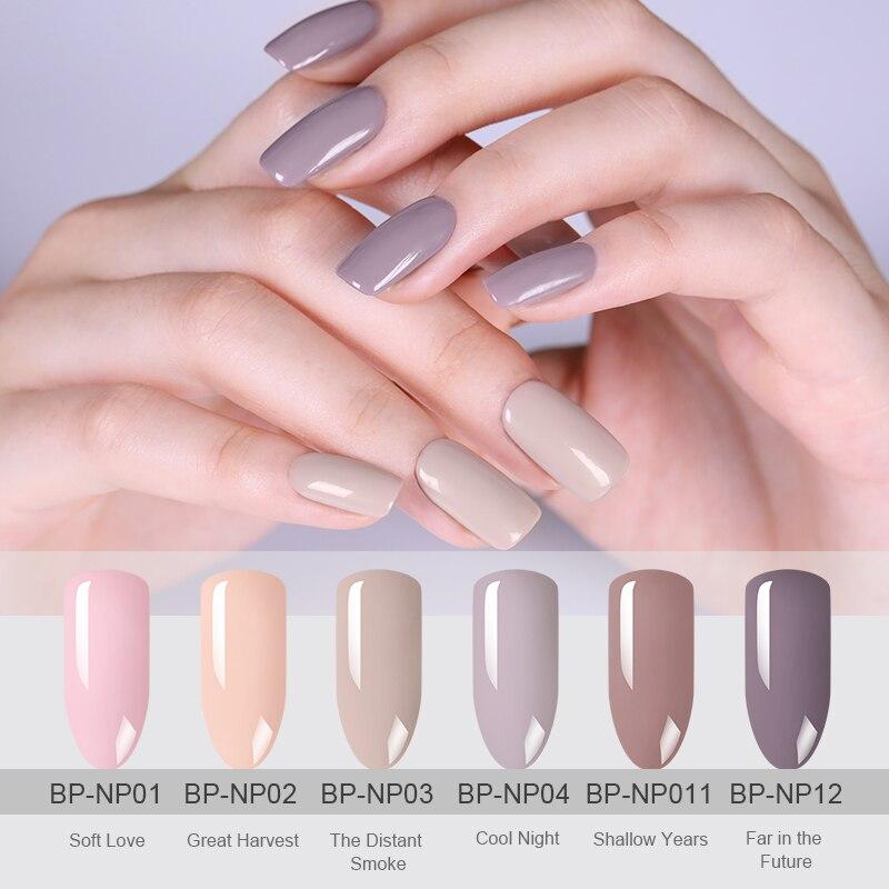 BORN PRETTY Nail Gel Polish 6ml Pink Jelly Color Gel