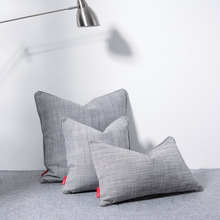 Nordic super quality 300G thicking gray cushion cover 45*45cm solid cotton decorative pillow home office bar pillowcase