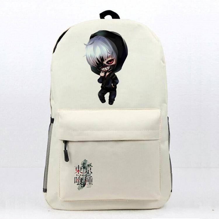 Anime Tokyo Ghoul Laptop Backpack Daily Backpack Kaneki Ken Printing Book Bag Womens Mens School Bag Travel Backpack