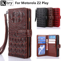 K Try Multifunction Wallet Case For Motorola Moto Z2 Play Luxury Pu Leather With Soft TPU