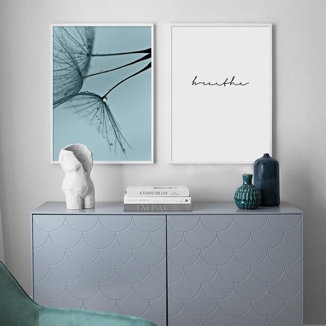 Affiches et imprimés de décoration de maison moderne | Citation de pisselions, toile de paysage, peinture de plante, photos murales pour chambre