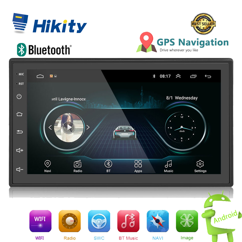 "Hikity 2din Android Car Multimedia MP5 Player Radio GPS Navi WIFI Autoradio 2 Din 7"" Touch screen Bluetooth FM Audio Car Stereo"