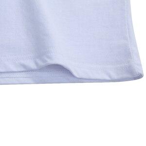 Image 4 - Футболка мужская летняя с коротким рукавом, однотонная хлопковая тенниска из спандекса, Стандартный крой, в простом стиле, 5 шт./лот