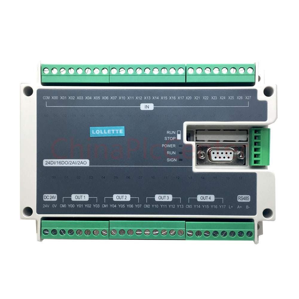 FX1N FX2N FX3U 40MT 24DI 16DO 2AD 2DA Analog for PLC RS485 Modbus 4 Axis High-Speed Pulse 100KHz Output Stepper Motor fx1n fx2n fx3u 40mt 24di 16do 2ad 2da analog for plc rs485 modbus 4 axis high speed pulse 100khz output stepper motor