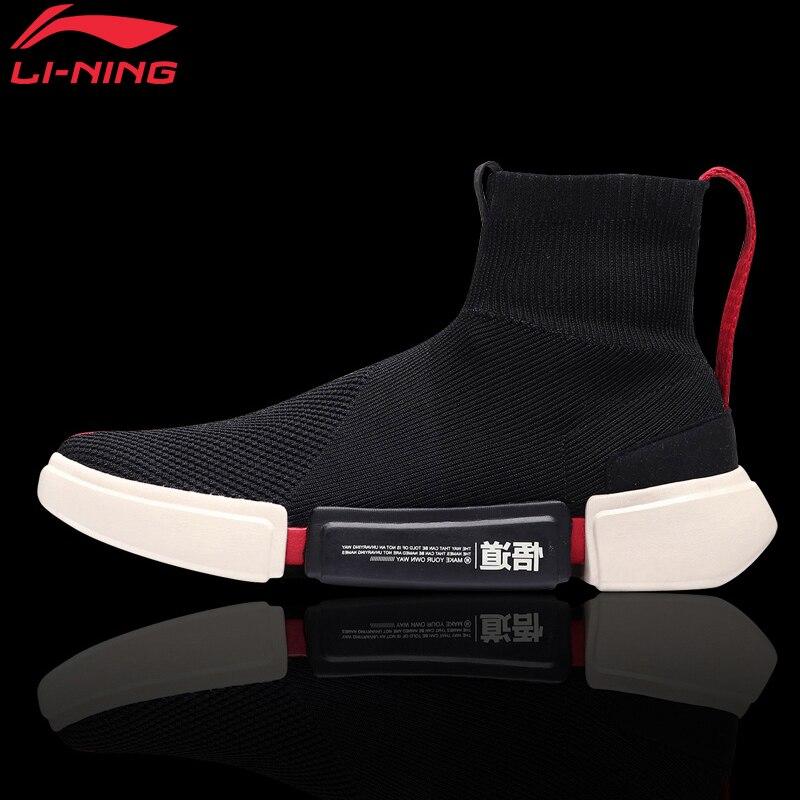 Li-Ning Hommes NYFW Wade Essence II de Basket-Ball De Sport Culture Chaussures Chaussette-Comme Chaussures de Sport Fitness Confort Sport Chaussures ABCM113 XYL144