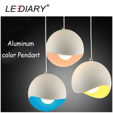 LEDIARY E27 Colorful Pendant Lights Aluminum Hanging Lamp Vintage Edison Droplight for Home Decoration Bulb Excluded(China)