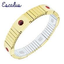 8e8c7fd72413 Escalus imitación joyería de traje elástico pulsera magnética para mujeres  pulseras de Color oro pulsera encanto regalo pulseras