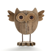 Creative Wooden Cartoon Owl figurine Handmade Wooden animals decorations Wooden gifts Wedding decoration Brief style Owls fig.