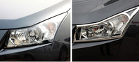 High Quality Fashion ABS Chrome Head Light Lamp Cover Sill Trim 2pcs For Chevy Chevrolet Cruze