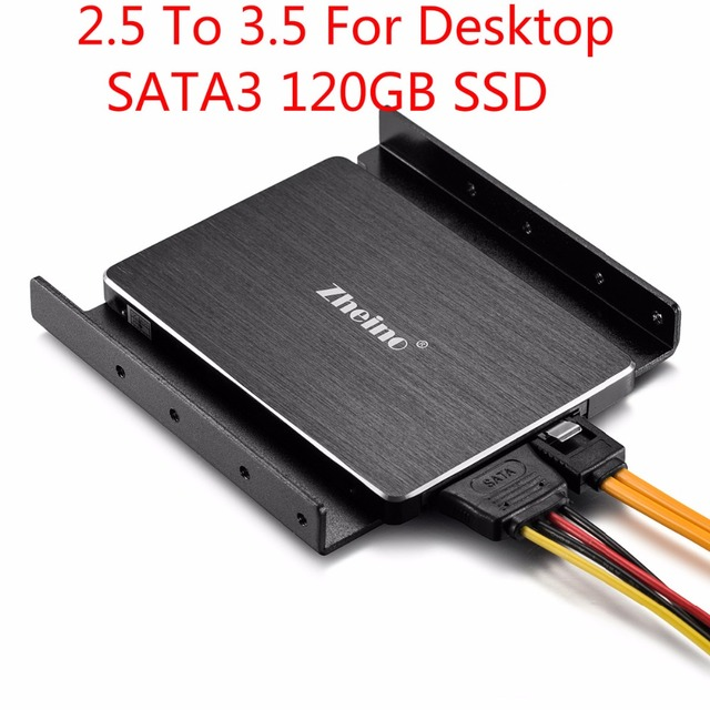 Zheino 3.5 SATA SSD 60GB 120GB 128G 256GB For Desktop 2.5 SSD To 3.5 SSD For Any PC Tower Case Aluminum Mounting Adaptor Bracket