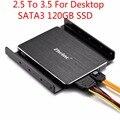 Zheino 3.5 sata ssd de 60 gb 120 gb 128g 256 gb para el escritorio 2.5 ssd a 3.5 SSD Para Cualquier PC Torre Caso De Aluminio Soporte De Montaje Adaptador