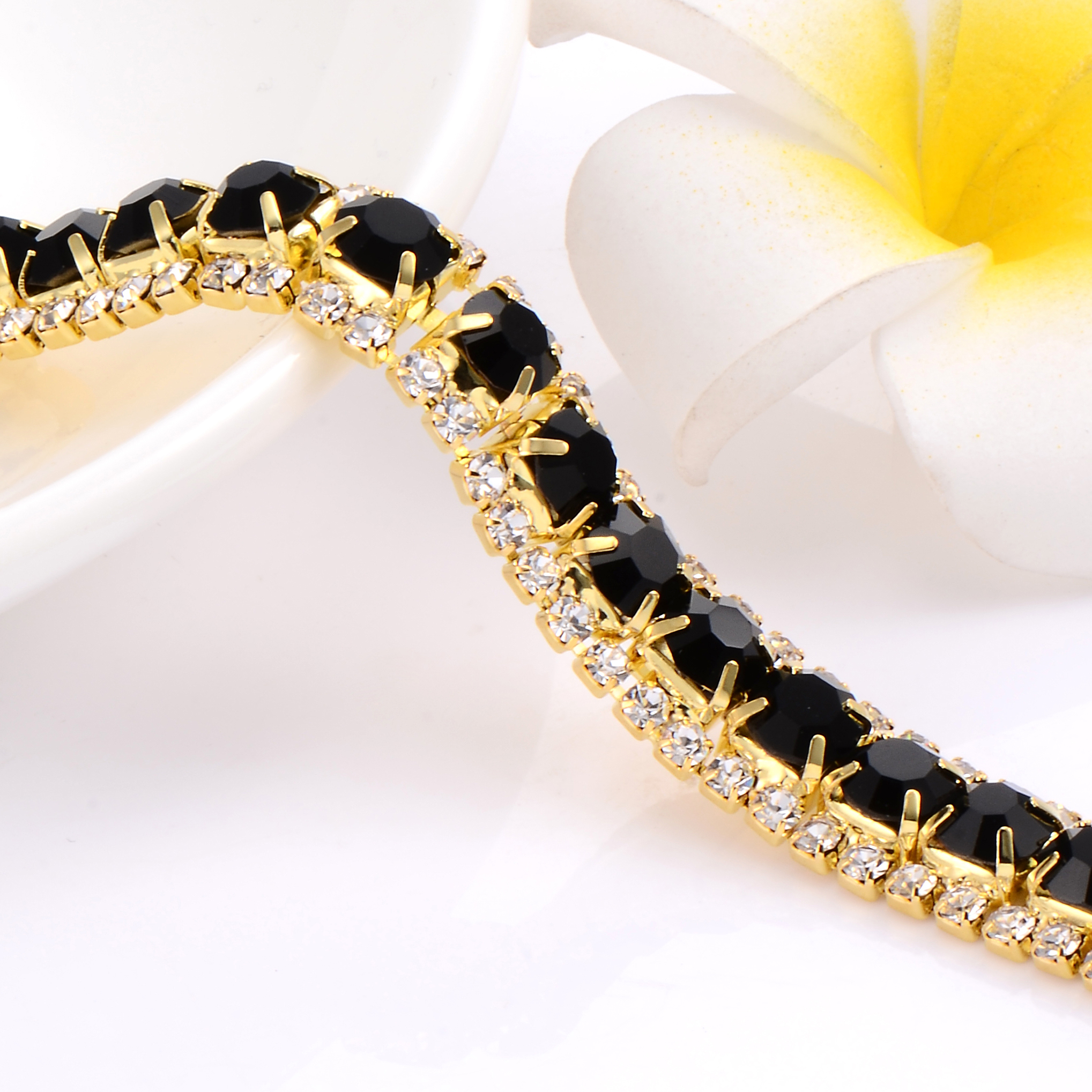 mens crystal channel bangles diamond gold in bangle rose set womens