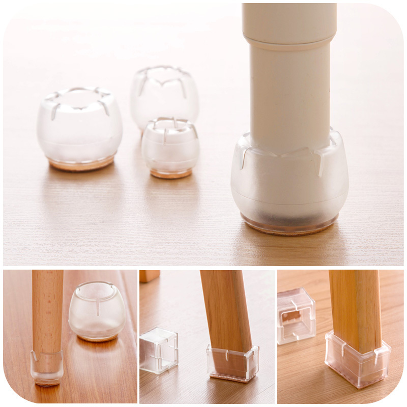 Furniture Chair Parts Silicone Shackles Leg Protection Table Pad