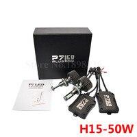 2pcs Set Hi Low Beam Bulbs CSP Chips H15 LED Headlight Replace Kit Super Bright P7