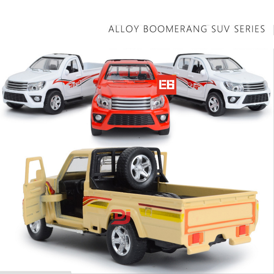 Hot 1 38 Scale Toyota Pickup Truck Suv Off Road Vehicle Cast Car Metal Model Wheel With Light Sound Pull Back Alloy Toys In Casts Toy Vehicles