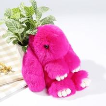 Cute Play Dead Rabbit Fur Hanging Pendant Rabbit Bunny Key-chain Fashion fur pom pom key-chain Rabbit Toy Doll