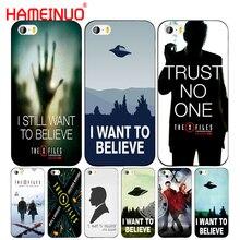 HAMEINUO, X файлы, я хочу верить, чехол для сотового телефона, чехол для iphone 6, 4, 4s 5, 5s SE, 5c, 6, 6s, 7, 8 plus, чехол для iphone 7, X