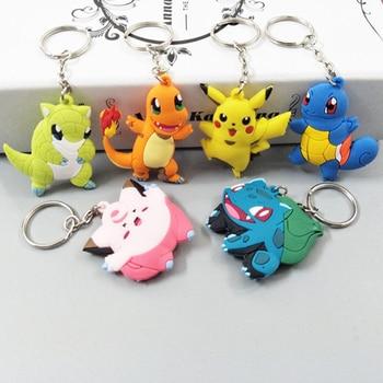 3D Anime Pokemon Go Key Ring Pikachu Keychain Pocket Monsters Key Holder 1