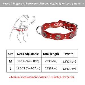 Image 5 - دائم جلد طبيعي الكلب طوق اليدوية قابل للتعديل الحيوانات الأليفة الأساسية الياقات الأسود البني ل متوسط كبير الكلاب بيتبول