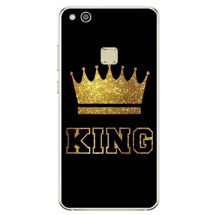 For Huawei P8 P9 P10 Lite 2017 For iPhone 4 4S 5 5S SE 5C 6 6S 7 Plus King Queen case